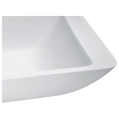 Kydia Rectangular Vessel Bathroom Sink