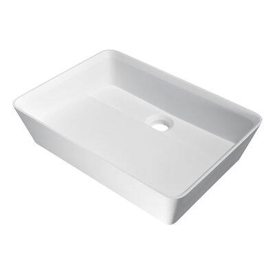 Sharon Rectangular Vessel Bathroom Sink