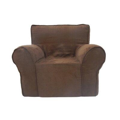 Fun Kids Club Chair and Ottoman Color: Chocolate