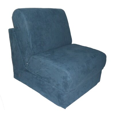 Personalized Kids Sleeper Chair Upholstery - Color: Micro Suede - Navy