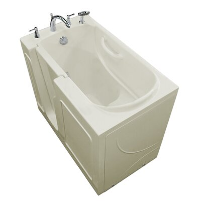 "Prairie 46"" x 26"" Walk In Soaking Bathtub Drain Location: Left, Color: White"
