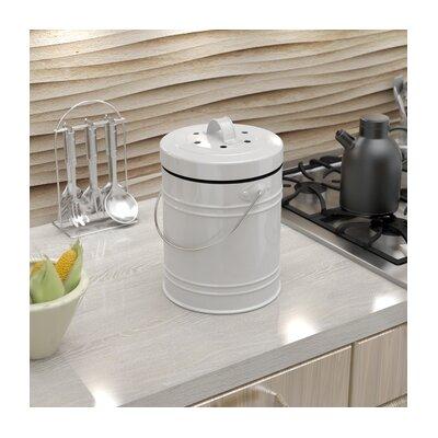 Oversized 1.3 Gallon Kitchen Compost Bin