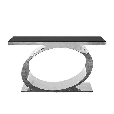 "Linnea Console Table Size: 30"" H x 55"" W x 18"" D, Color: Black/Silver"