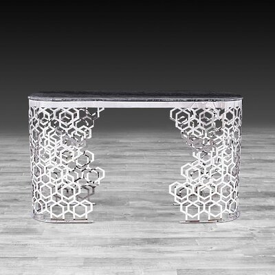Loredana Console Table Color: Silver