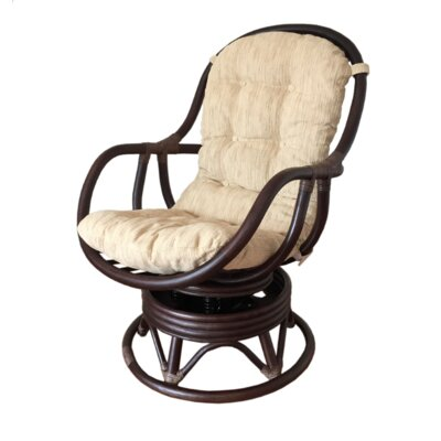 Rocking Chair Fabric: Light Beige, Color: Dark Brown