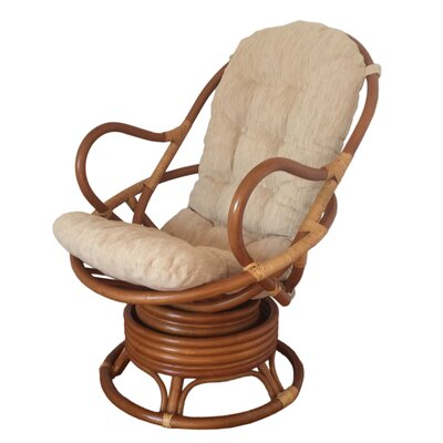 Rocking Chair Color: Light Brown, Fabric: Light Beige