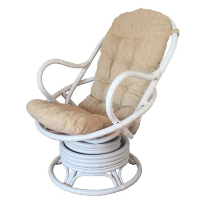 Rocking Chair Fabric: Light Beige, Color: White