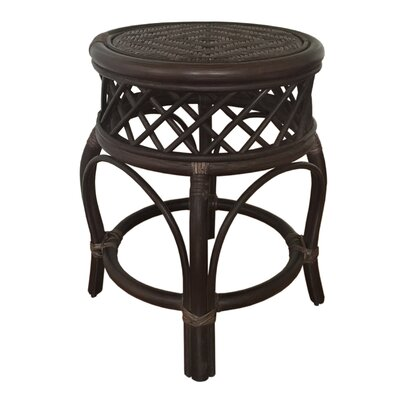 Mary Rattan Wicker Stool Finish: Dark Brown