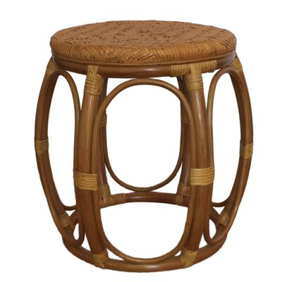 Larry Rattan Wicker Garden Stool Finish: Light Brown