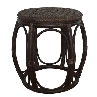 Larry Rattan Wicker Garden Stool Finish: Dark Brown