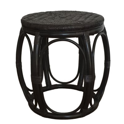 Larry Rattan Wicker Garden Stool Finish: Black