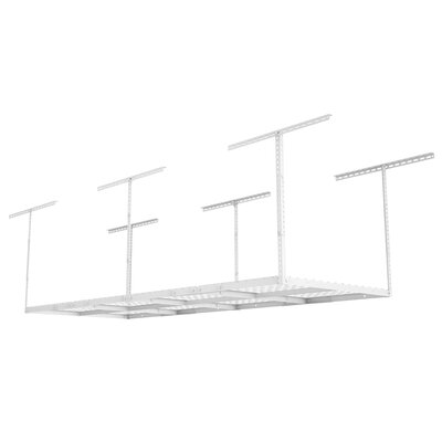 Heavy Duty Garage Adjustable Ceiling Hanging Organizer Color: White