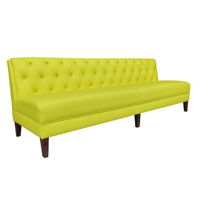 "Verb Upholstered Banquette Bench Color: Lemon, Size: 34"" H x 72"" W x 28"" D"