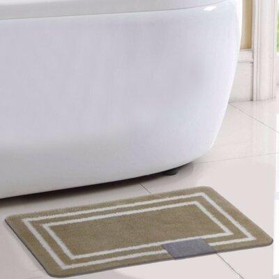 Capri Bath Rug Color: Beige