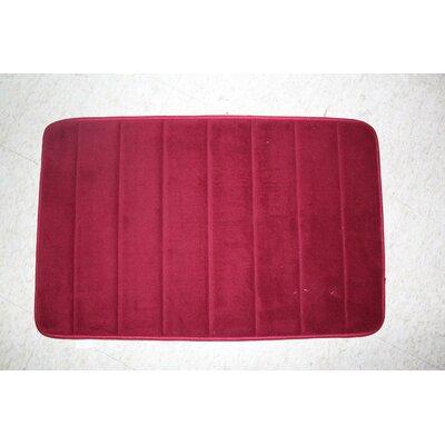Callingwood Foot Comfort Foam Cushion Bath Rug Color: Red