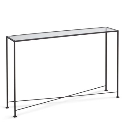 """Diversey Glass Console Table Size: 29.5"""" H x 48"""" W x 10"""" D"""