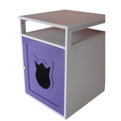 Kitty Cat Litter Box Color: Purple/White