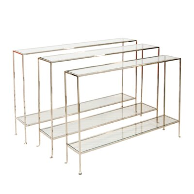 "Console Table Color: Nickel Plated, Size: 30"" H x 45"" W x 10"" D"