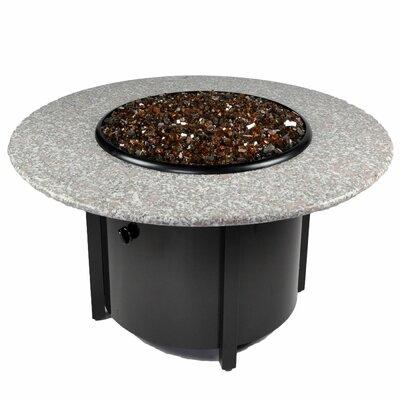 Venice III Granite Aluminum Propane Fire Pit Table