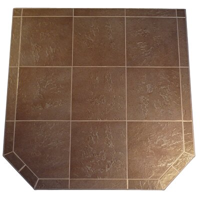 "Standard Hearth Pad Size: 1.5"" H x 54"" W x 54"" D, Finish: Desert Sand"