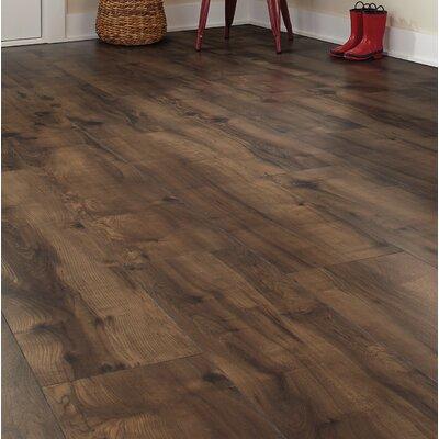 "Cashe Hills 8"" x 47"" x 7.87mm Maple Laminate Flooring in Chocolate"