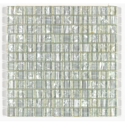 "Accent Statements 12"" x 12"" Glass Mosaic Tile in Pearl Shimmer"