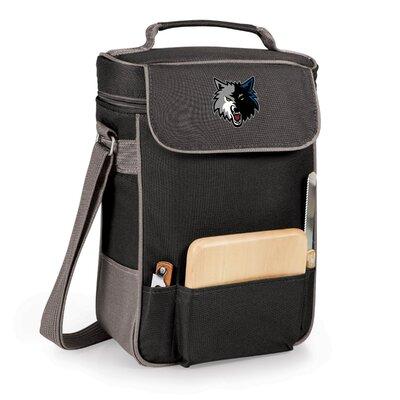 12 Can Duet Picnic Cooler Color: Black, Team: Minnesota Timberwolves