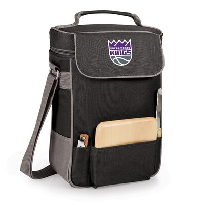 12 Can Duet Picnic Cooler Color: Black, Team: Sacramento Kings
