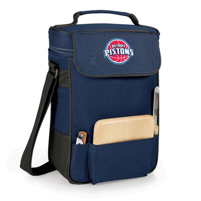 12 Can Duet Picnic Cooler Color: Navy, Team: Detroit Pistons