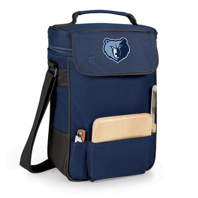 12 Can Duet Picnic Cooler Color: Navy, Team: Memphis Grizzlies