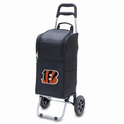 37 Can NFL Cart Rolling Cooler Color: Black, NFL Team: Cincinnati Bengals