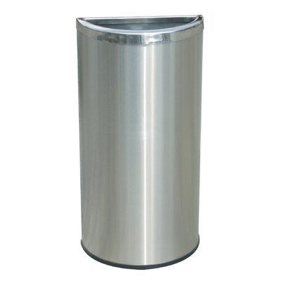 Commercial Zone Precision Series 8 Gallon Half Moon Trash Can