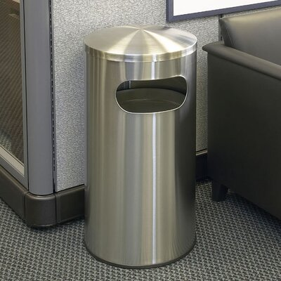 Precision Series Allure Stainless Steel 15 Gallon Trash Can