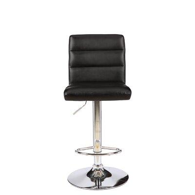 Cavalier Series Adjustable Height Swivel Bar Stool Upholstery: Black