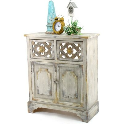 Heavner Wooden 2 Drawer Accent Cabinet