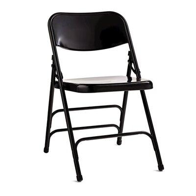 2700 Series Steel Folding Chair Finish: Black