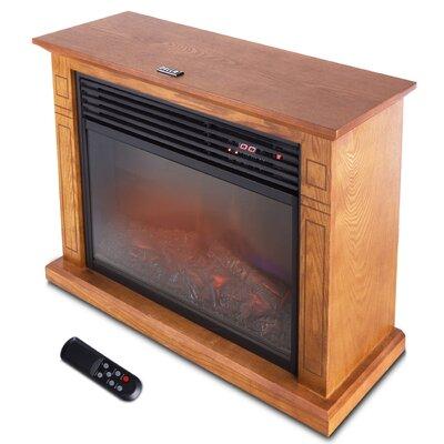 1500 Watt Deluxe Infrared Quartz Heater Flame Wood Log Caster Cabinet Finish: Honey Oak