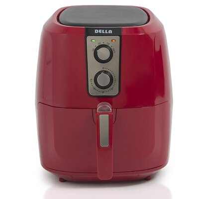 5.5 Liter XL Electric Air Fryer Color: Red