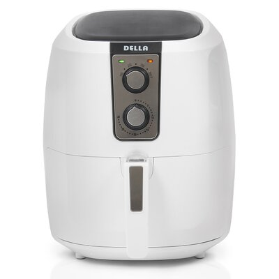 5.5 Liter XL Electric Air Fryer Color: White