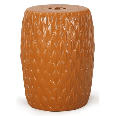 Ceramic Garden Stool Finish: Orange
