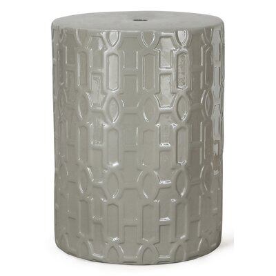 Round Ceramic Garden Stool Finish: Gray
