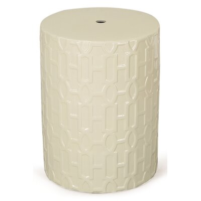 Round Ceramic Garden Stool Finish: White