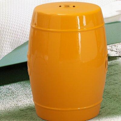 Ceramic Garden Stool Finish: Yellow