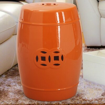 Ceramic Garden Stool Finish: Orange
