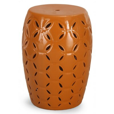 Round Ceramic Garden Stool Finish: Yellow