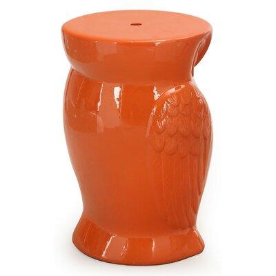 Ceramic Garden Stool Finish: Red