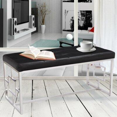 Corsa Upholstered Bench Color: Black