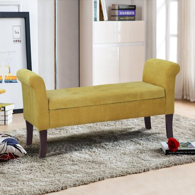 Elbert Upholstered Bench Upholstery: Yellow