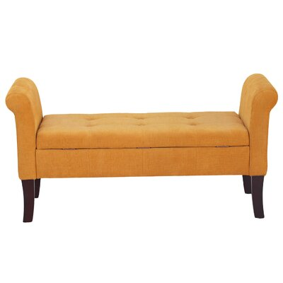 Elbert Upholstered Bench Upholstery: Orange