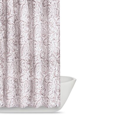 Newburgh Paisley Watercolor Shower Curtain Color: Blush Pink